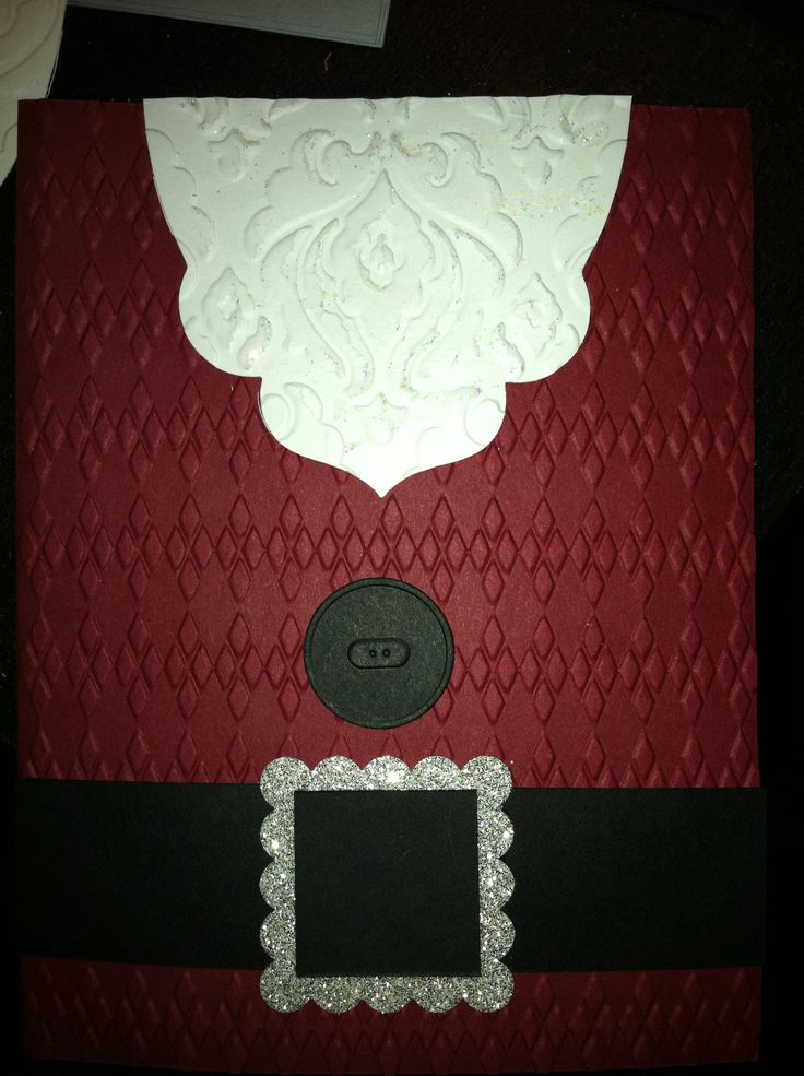 Stampin up. Apothecary. Santa Claus. Christmas card. Embossing