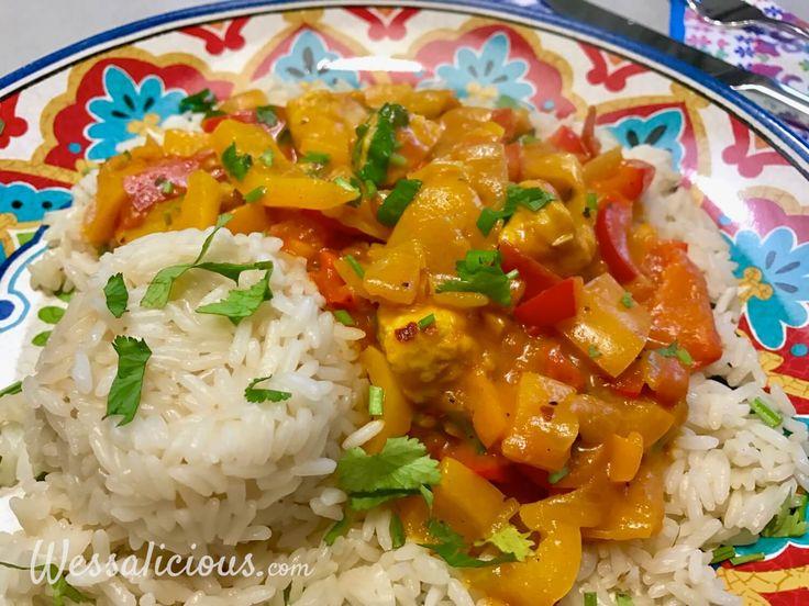 Nieuwe recept: Paprika curry met rijst
