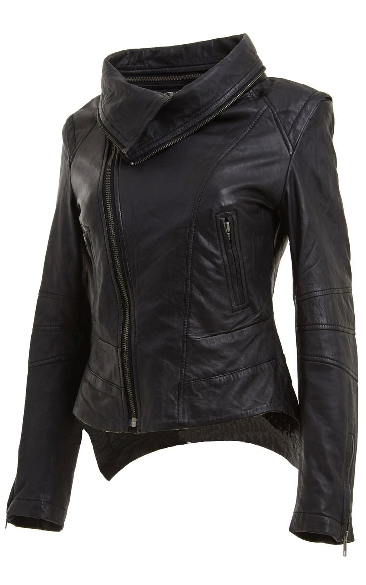 Best 25  Leather jacket styles ideas on Pinterest | Black leather ...
