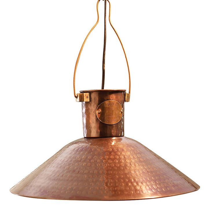 traditional copper pendant light by country lighting | notonthehighstreet.com