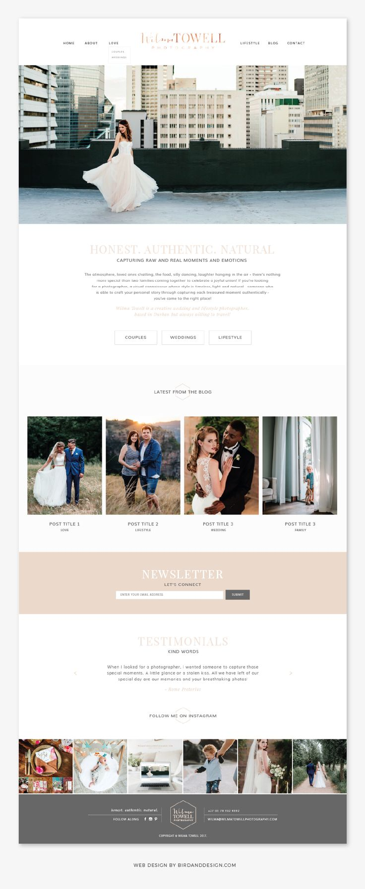Website Design: Wilma Towell Photography