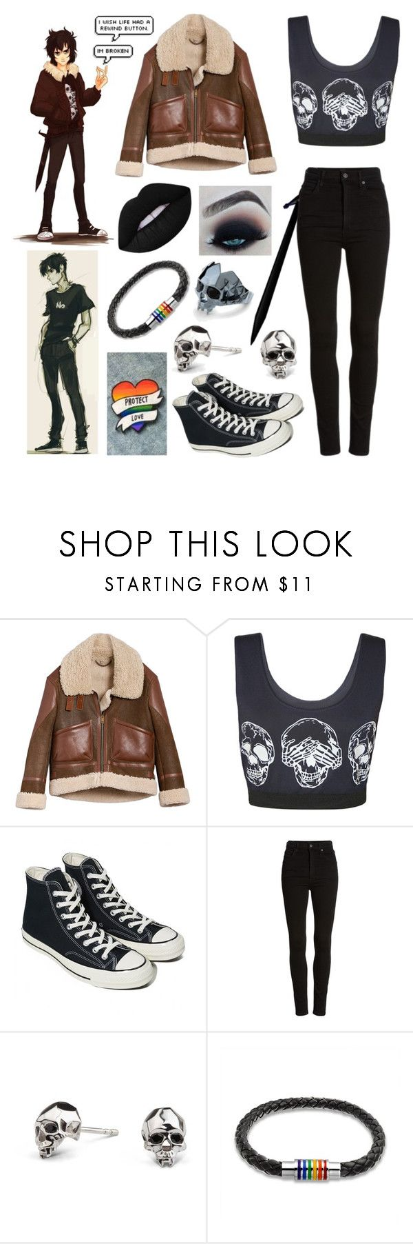 """""""Nico di Angelo - Percy Jackson (Disney)"""" by casyneecandy ❤ liked on Polyvore featuring Burberry, WearAll, Converse, Citizens of Humanity, Kasun and Bling Jewelry"""