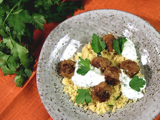 Marockanska köttbullar med couscous (kock Jennie Walldén)
