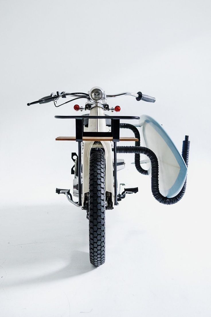 the deus sea sider custom bike is 70's super cub for surfers