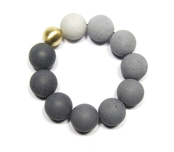 The new Orbis 18k gold and tinted concrete bracelet, coming soon by KONZUK