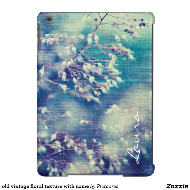 #old #vintage #floral #texture with name cover for #iPad air