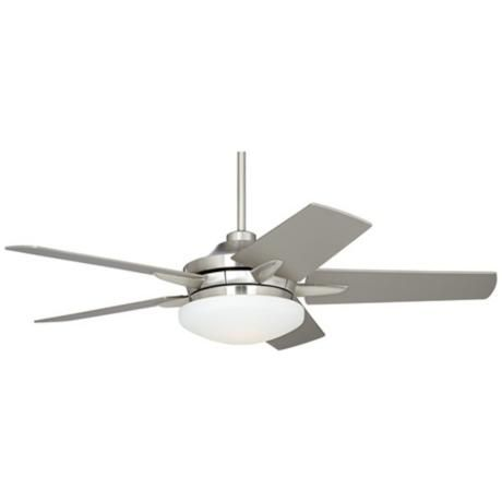 "52"" Casa Endeavor™ Brushed Nickel Silver Ceiling Fan"