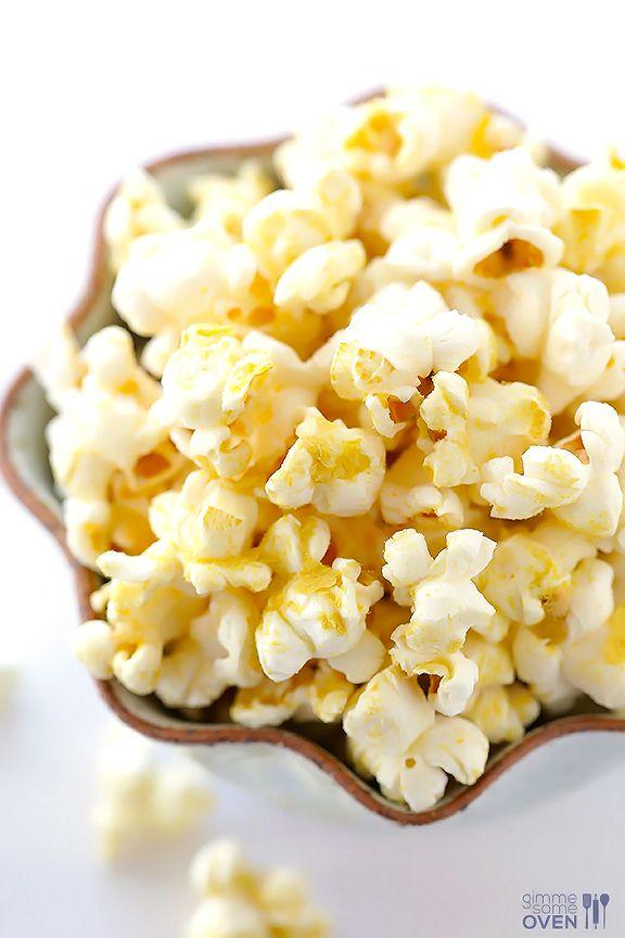 The BEST Butter-Free Popcorn (Nooch Popcorn) -- it's vegan, gluten-free, dairy-free, healthier, and SO tasty! gimmesomeoven.com