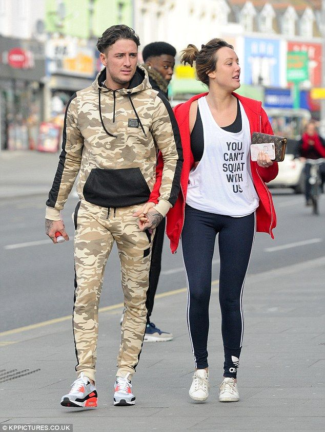 Stephen Bear and Charlotte Crosby are seen hand in hand