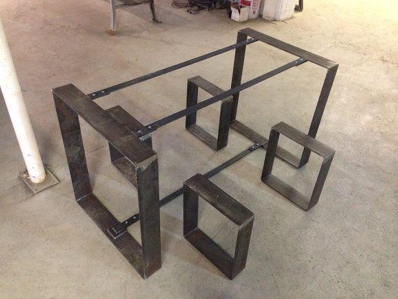 Flat Metal Table Frame and Bench Legs door BlueRidgeMetalWorks