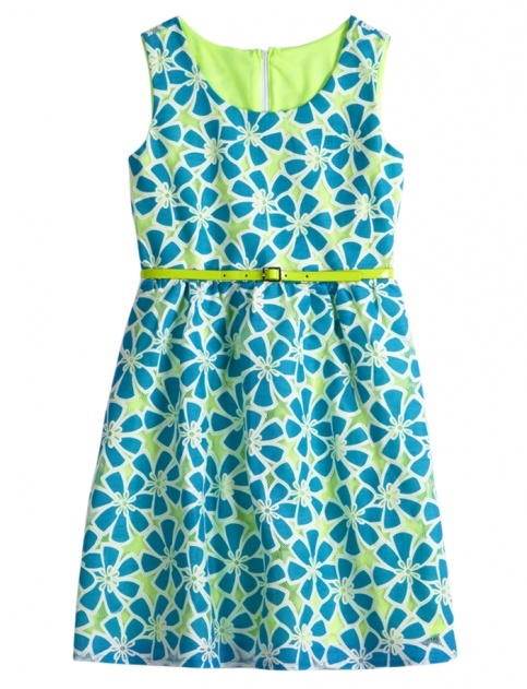 Cute and chic, blue and green dress with a belt. Image and dress found at justice girls clothing store    www.shopjustice.com