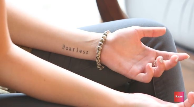 Sadie Robertson never planned on getting a tattoo. But after battling with anxiety and fear for years she finally gave her life entirely over to Christ. That's when Sadie got the idea to have a daily reminder her to trust and live 'Fearless'. What a powerful testimony!