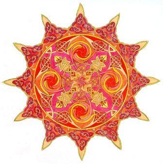 "Mandala ""sol interior"""
