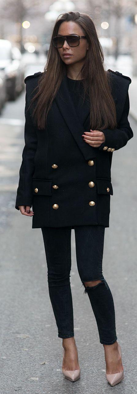 Black Military Spirited Jacket                                                                             Source