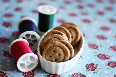 Ginger button cookies