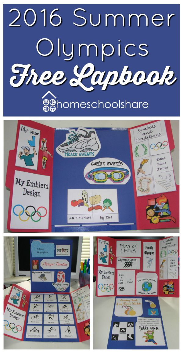 FREE 2016 Summer Olympics Lapbook  - repinned by @PediaStaff – Please Visit  ht.ly/63sNt for all our pediatric therapy pins