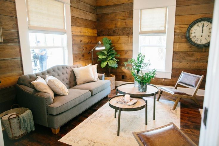 The 3 Little Pigs House   Season 3   Fixer Upper   Magnolia Market   Living Room   Chip & Joanna Gaines   Waco, TX