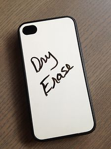 Dry Erase iPhone case. Also available for Samsun Galaxy s3. Made of silicone base for the ultimate protection for your phone