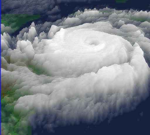 3d image of hurricane.
