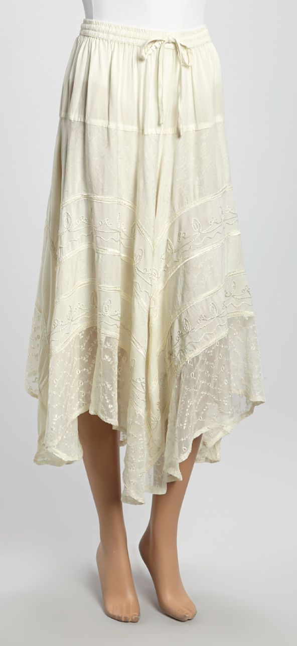 Long White Flowy Skirt Jill Dress