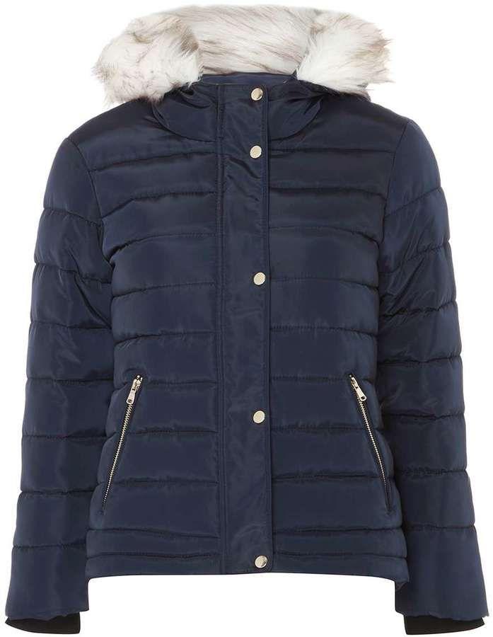 Dorothy Perkins Petite Navy Short Puffer Jacket