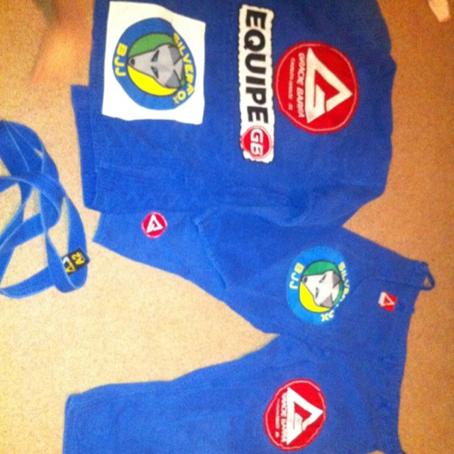 Gracie barra gi with Silverfox Bjj patches