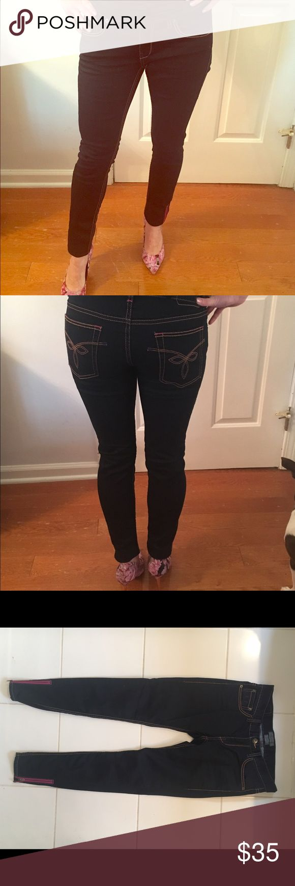 Ted baker jeans Ted baker jeans with pink zipper embellishment Ted Baker Jeans Skinny