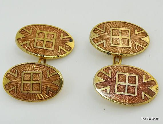 Interesting design! Vintage Loose Link Cufflinks by Guilloche  #thetiechest