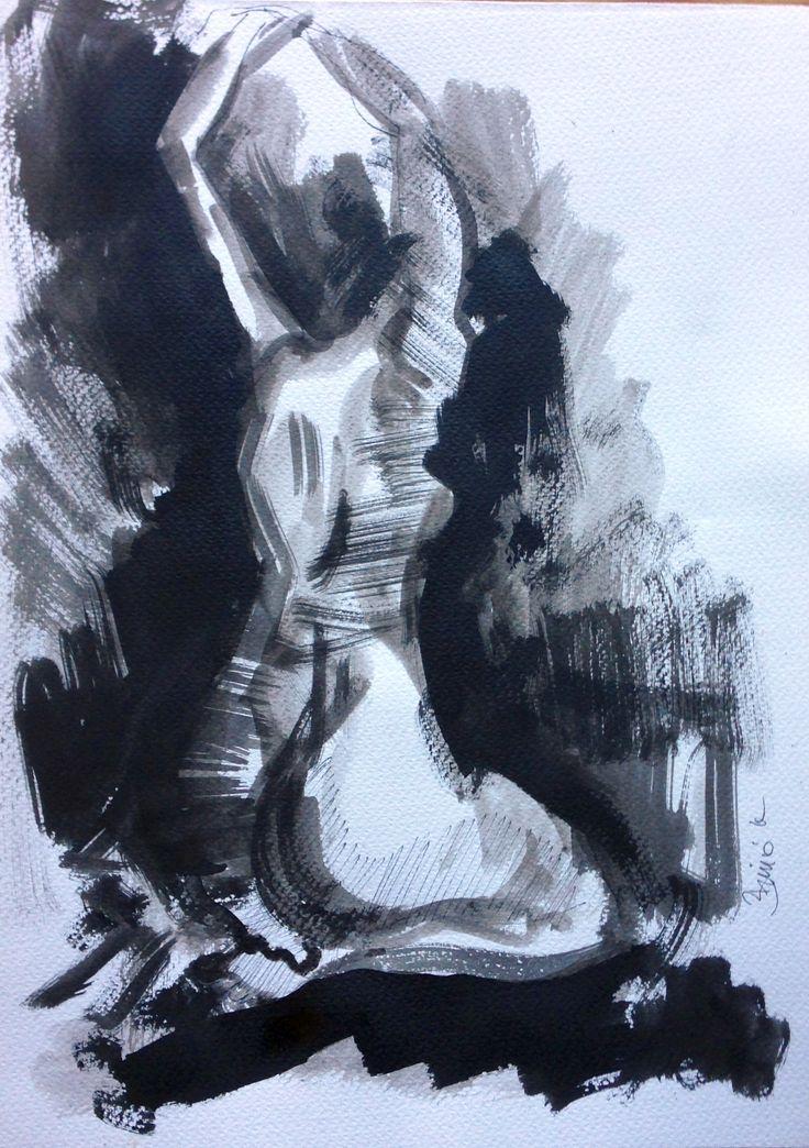 Konrad Biro  ink drawing