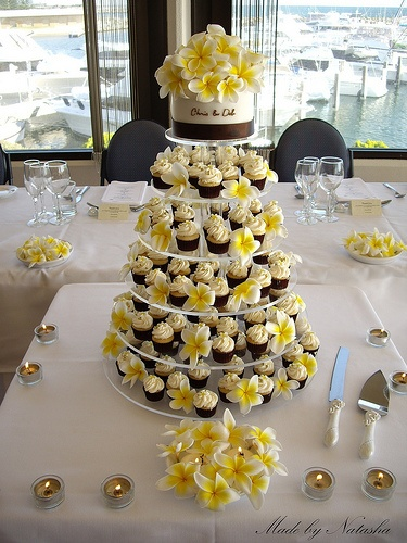 Frangipani Cupcakes and Cake
