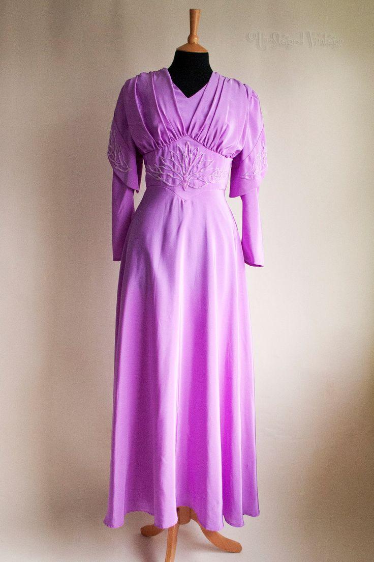 Asombroso Vestido De Boda De La Vendimia Etsy Ideas Ornamento ...