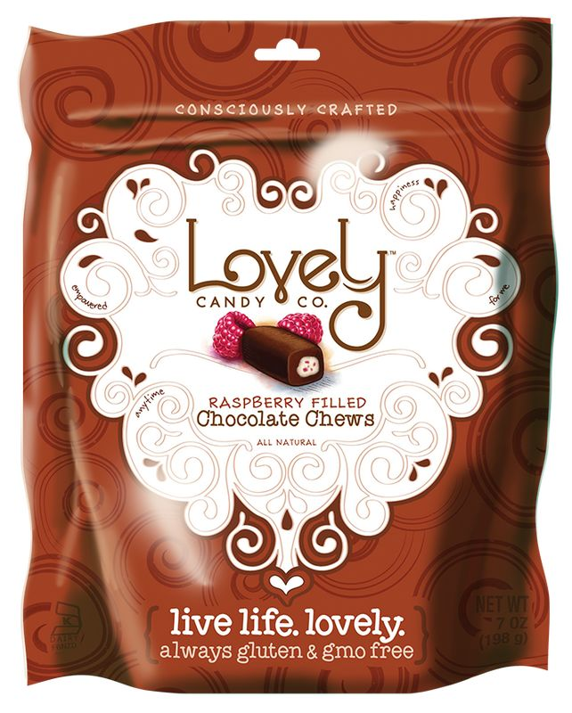 Rasberry chocolate filled fruit chews, delicious!