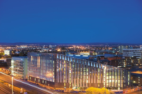 The new Manchester Metropolitan University business school.