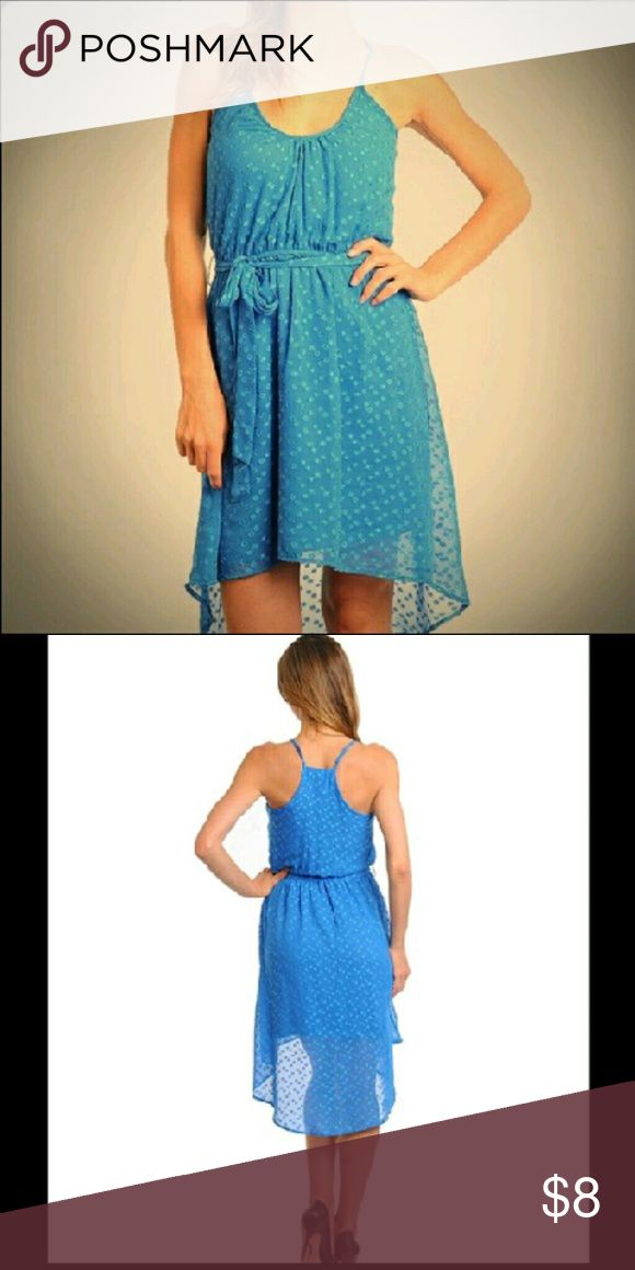 Womens high low blue dress Shell- 100% polyester. lining-100% polyester. fully lined true blue high low dress Dresses High Low