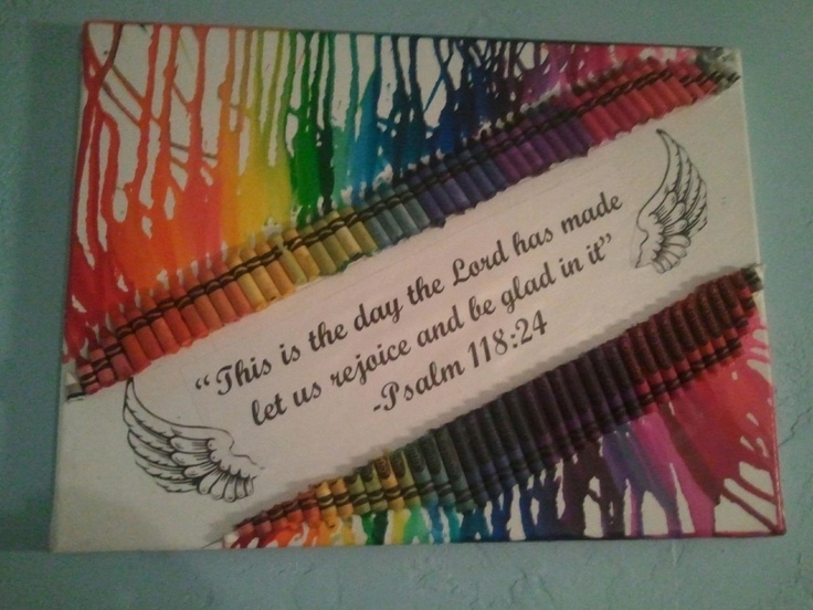 Crayon canvas art! :)   Oh how I love crafts