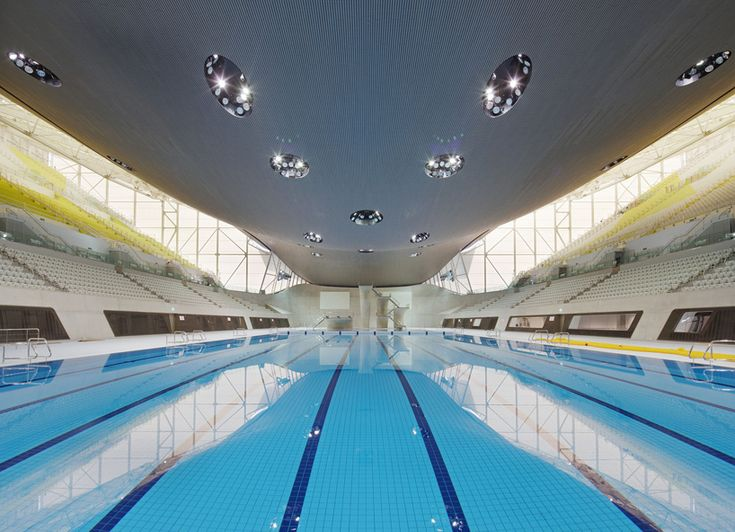 construction for the 'london aquatics centre' for the london 2012 summer olympics by zaha hadid architects