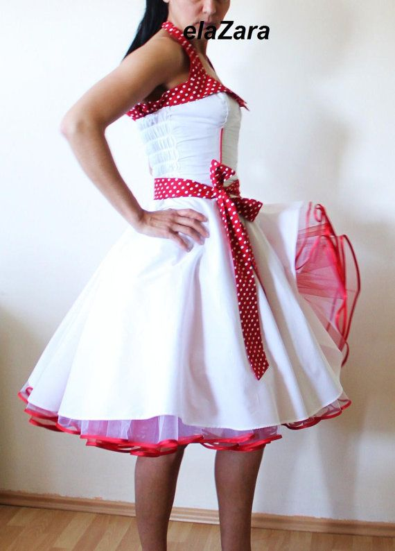 This looks like something straight out of Cry Baby. Rockabilly wedding dress by elaZara on Etsy
