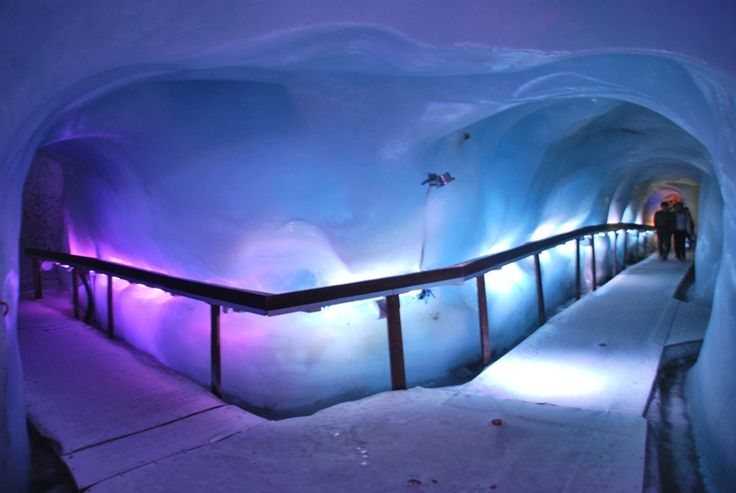 One of the coolest things I've ever seen - the ice caves in Mt. Titlis (Swiss Alps). I must admit, though, it was this ski trip that made me afraid of skiing - those mountains are T.A.L.L.!!!