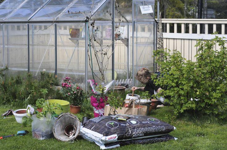 Puutarhan laittoa/ gardening with my girl