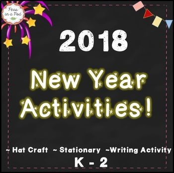 New Years 2018 Pack is updated yearly & includes: * A New Year's 2018 crown template (I have students color the crown. I staple it to a sentence strip, and ask them to write the countdown 10, 9, 8, 7, ... on the sentence strip. I then staple it in a circle to form a headband.) * New Year's Resolution Stationary * New Year's Writing Activity If you like this activity pack, you might also like the links below: Mini Books and more ~ Throughout the Year! Super...