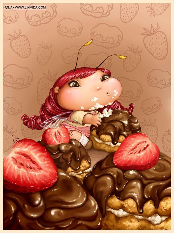 Cake diet fairy-bug by LiaSelina.deviantart.com on @deviantART
