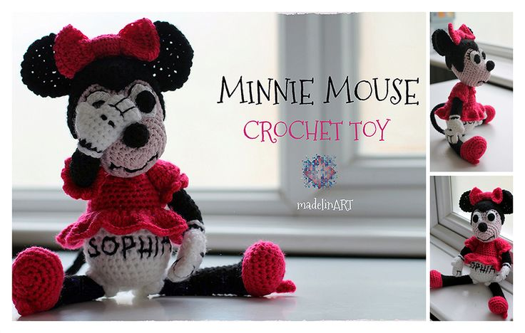 Minnie Mouse crochet toy :)