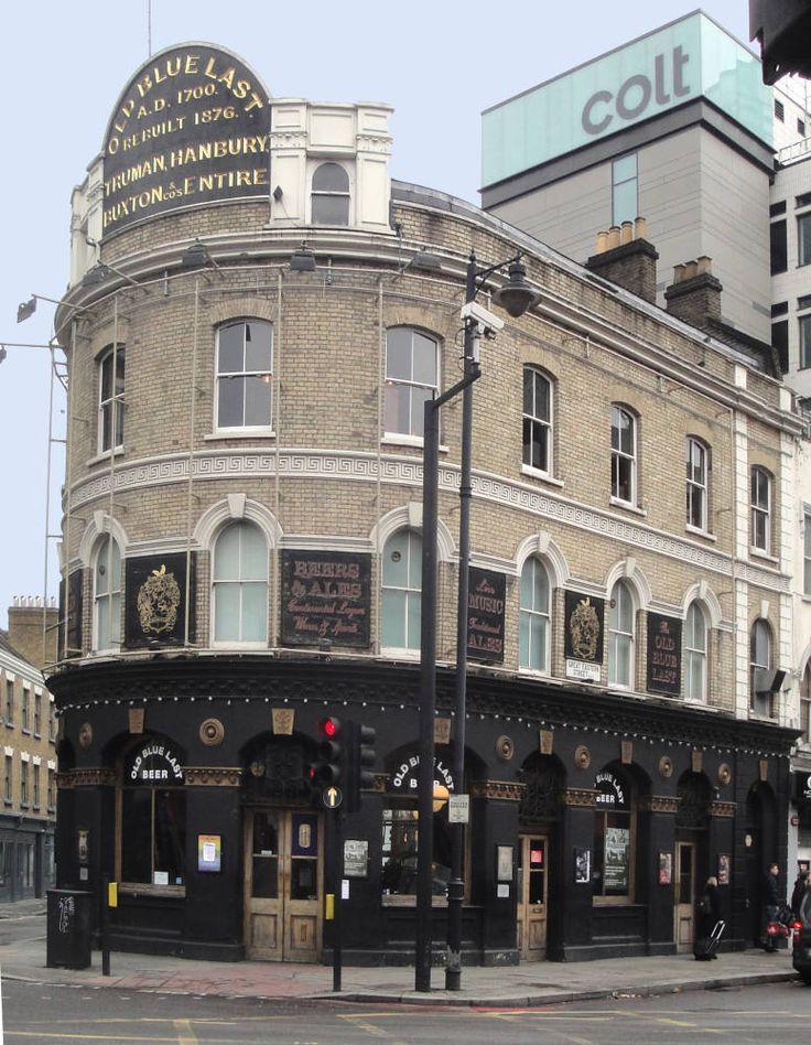 Shoreditch England: The Old Blue Last Pub In Shoreditch London, England Has A