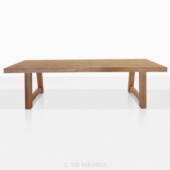 Blok Reclaimed Teak Outdoor Dining Table Outdoor Dining Table