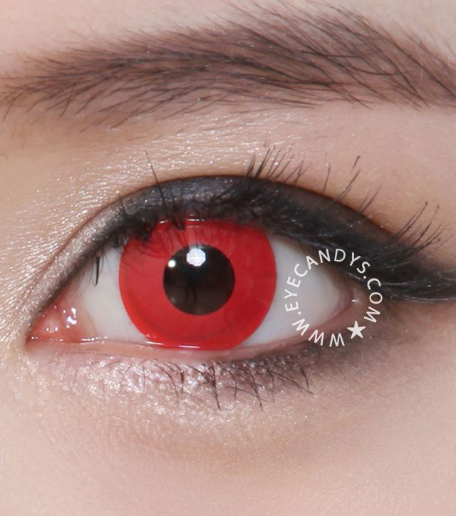 GEO CP-F1 blood red contact lenses - ideal for zombie Halloween costumes