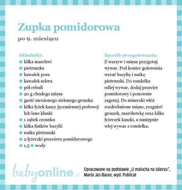 Przepisy dla niemowlaka - Zupki dla niemowlaka | Strona 18 | Baby online