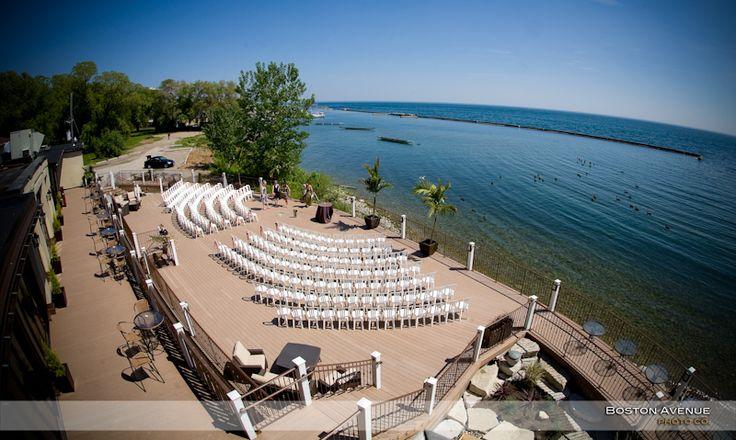 Palais Royale outdoor wedding ceremony
