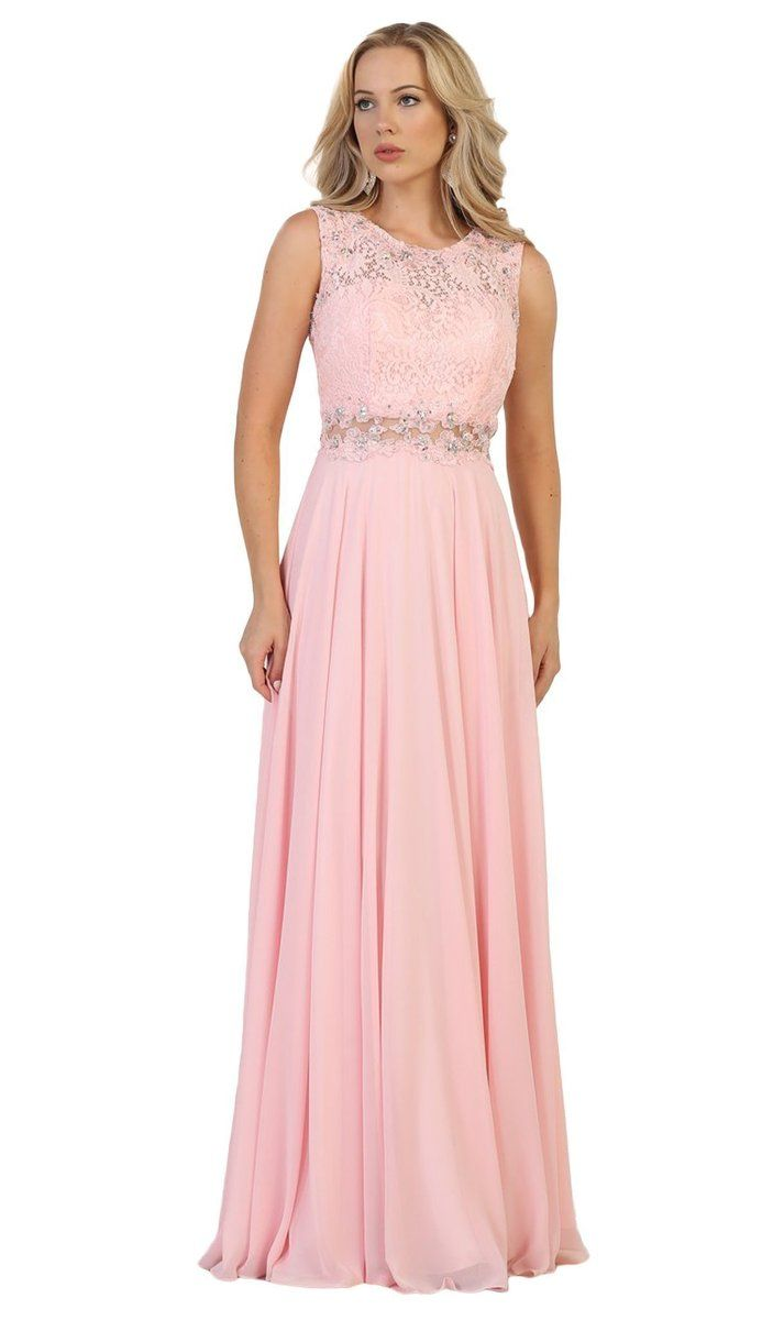 f1a9171f931 May Queen - Embellished Lace Pleated Prom Dress in 2019