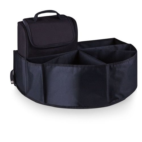 Picnic Time Trunk Boss Black Trunk Organizer with Cooler (Color: Black)