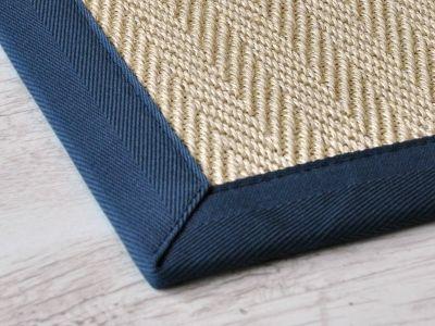 Tappeto in fibra di Sisal   Intreccio disegno Spigato  Elegante Trama Sisal  Per Arredamenti Classici  Etnici e Moderni  Traffico Abitativo Intenso